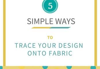 trace onto fabric