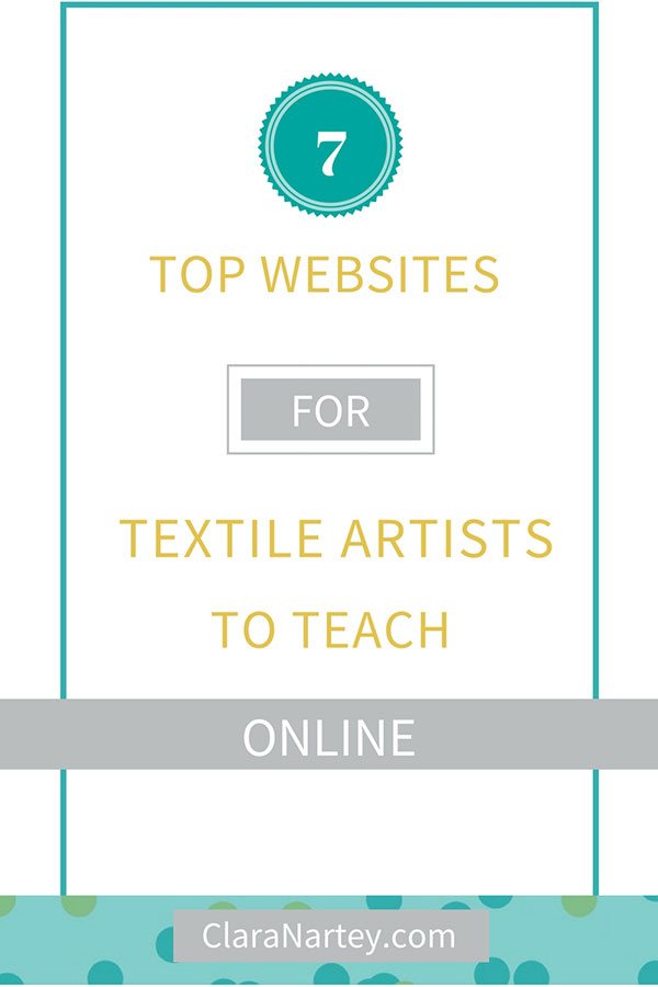You can tach textile art online at these 7 websites. Learn more and grow your business
