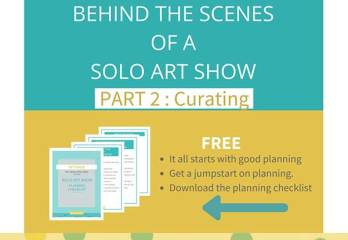 Download a free plan for curating art for your solo show