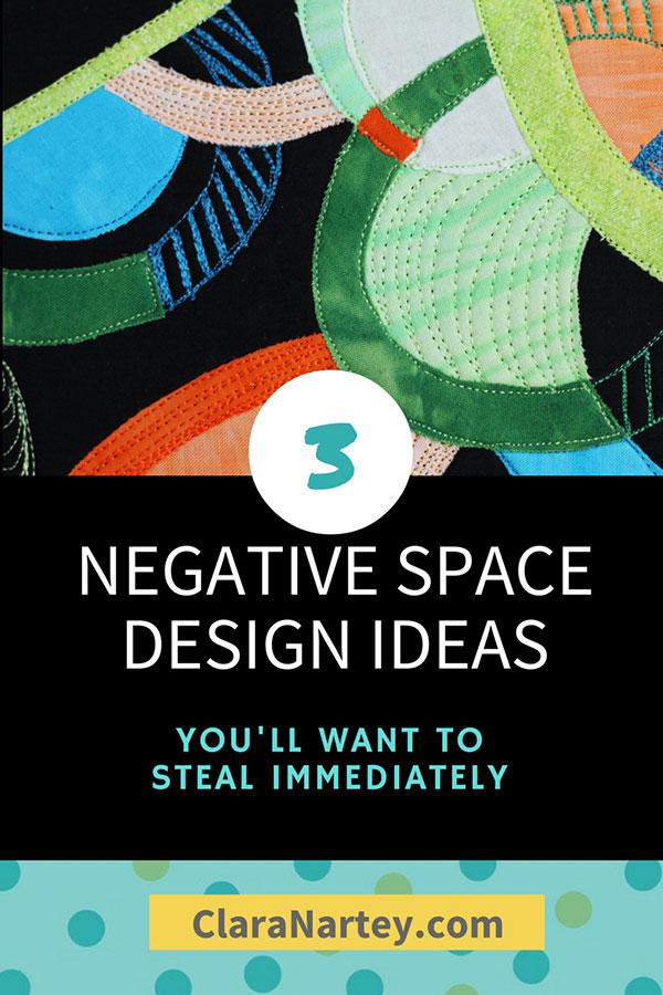 negative space, stitched art, design principles