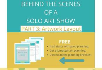 solo show artwork layout