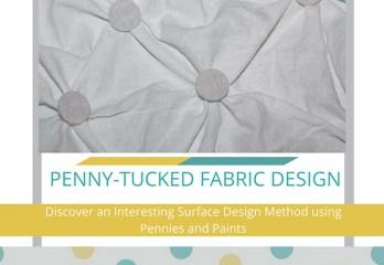 penny-tucked fabric design