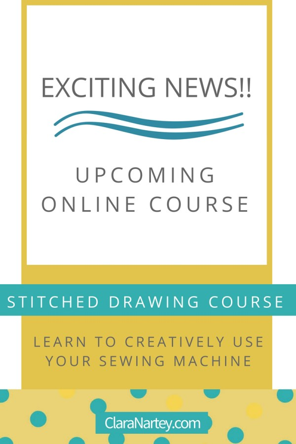 Stitched Drawing Course | Textile Art Course | Video Lessons in Thread Sketching