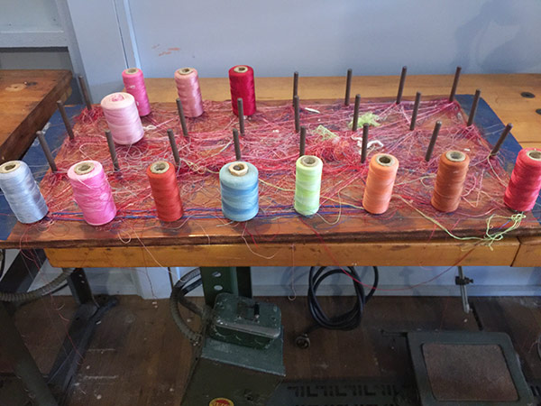 the mill museum - threads on sewing machine