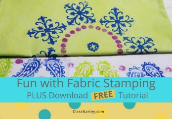 Fun with Fabric Stamping