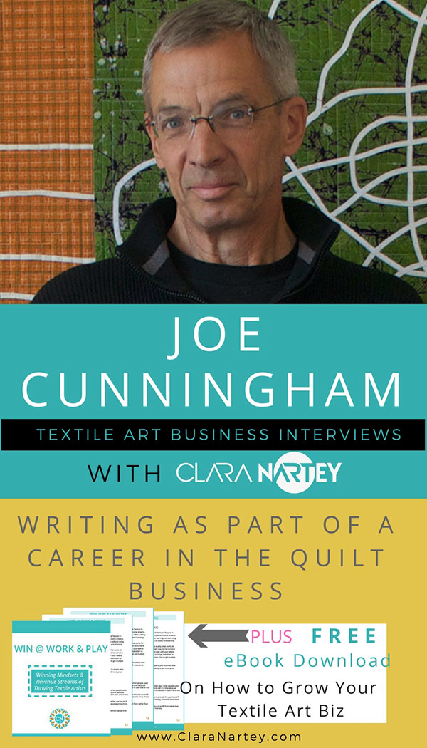 Quilt Artist - Joe Cunningham | Writing Books | Quilt Career | Quilt Career
