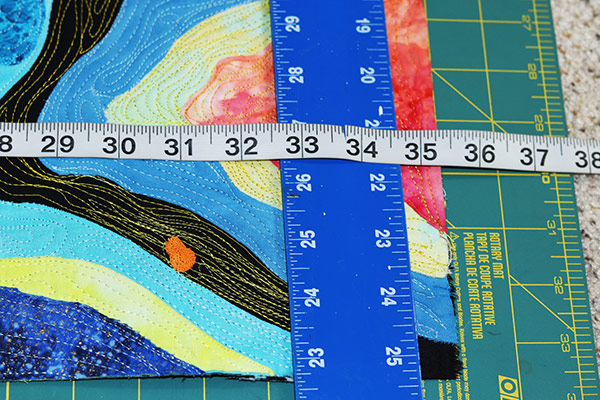 Art quilt Label   Art Quilt Facing  Quilt Hanging Sleeve   Finishing Touches