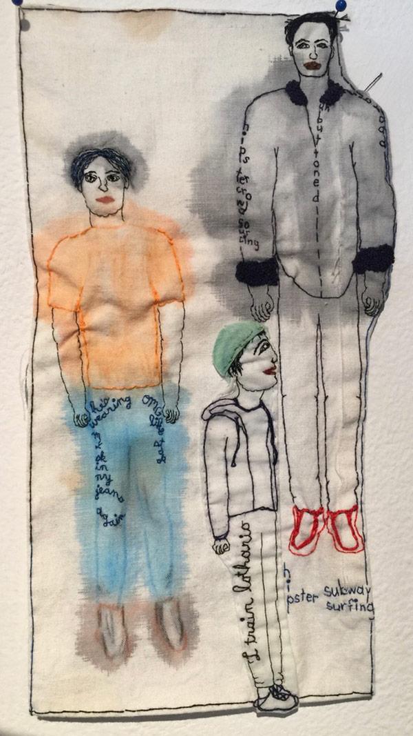 Thread art at Hunterdon Art Museum   Drawing with Thread   Thread Artists  Iviva Olenick
