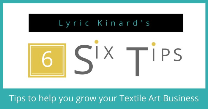 Lyric Kinard Tips on Teaching Textile Art Online