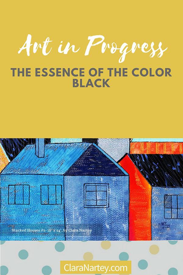 the essence of color black | textile art | fabric art | fibre art | architecture| Orange | Blue