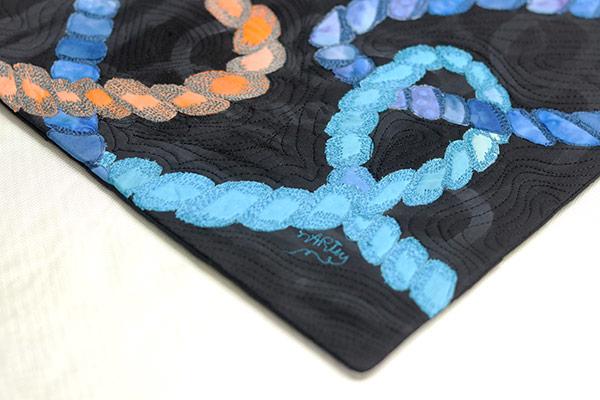Lovecicles | fiber art | fabric collage | fibre art | textile art | art textiles