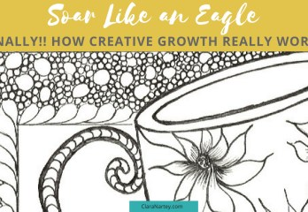 creative growth | Soar like an eagle| Hand-Drawn Coloring Page | Free Motion Quilting