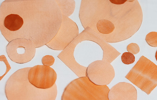Orange Fabric circles for New big project