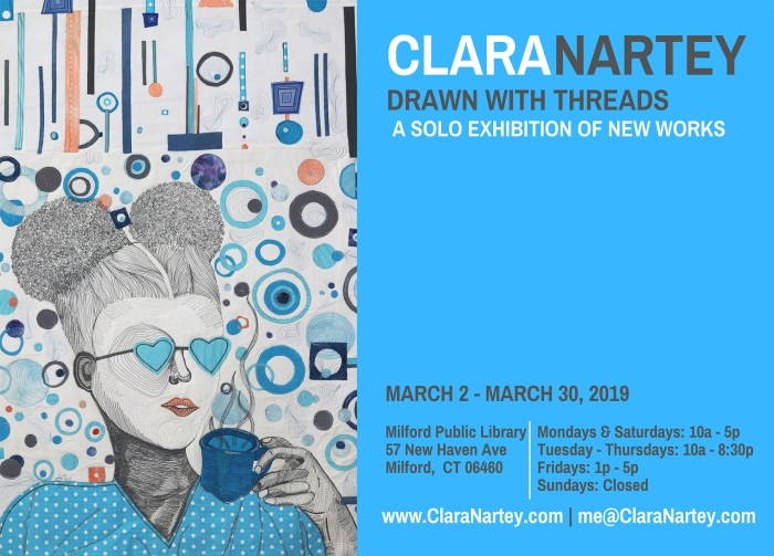 Drawn with Threads - Solo Exhibition by Clara Nartey