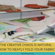 [Video] Organize Your Creative Space Plus How to Neatly Fold Your Fabrics