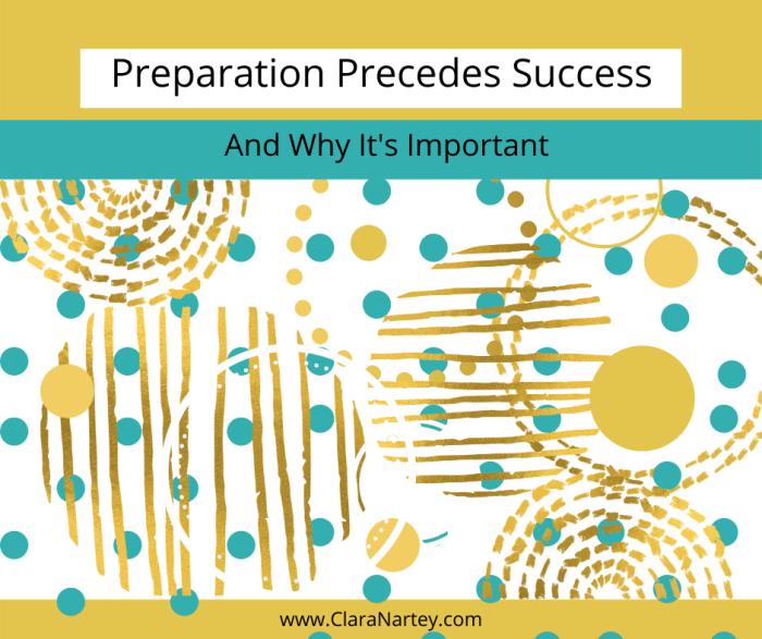 preparation for success