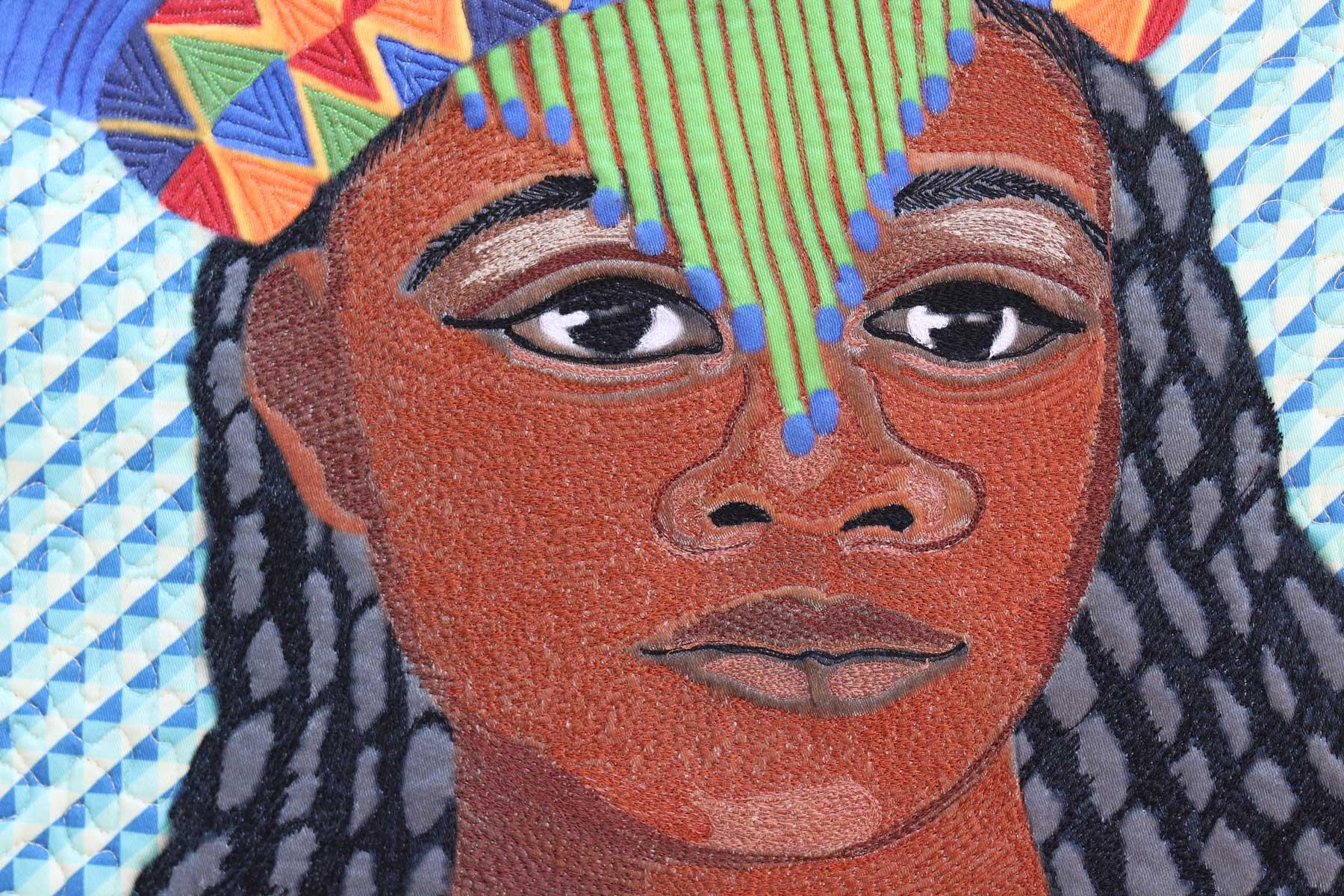 Amandla - The Empowered Woman,| Textile art| Fiber Art