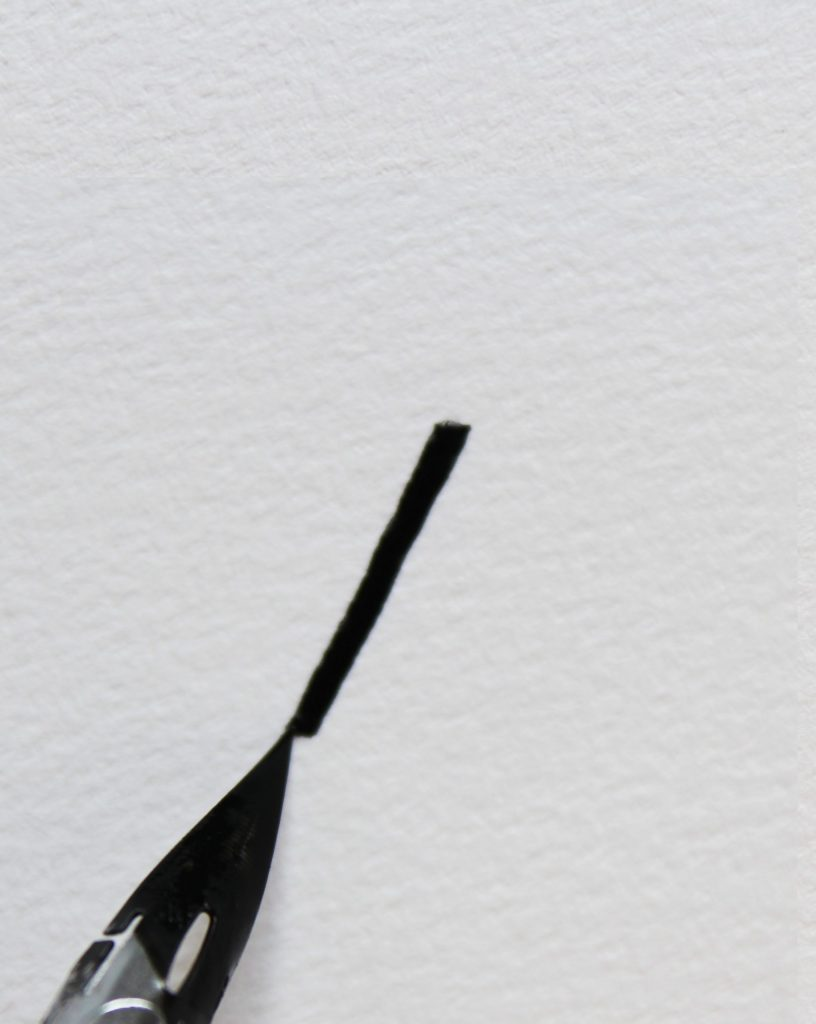 Kalligrafie gerade Kante