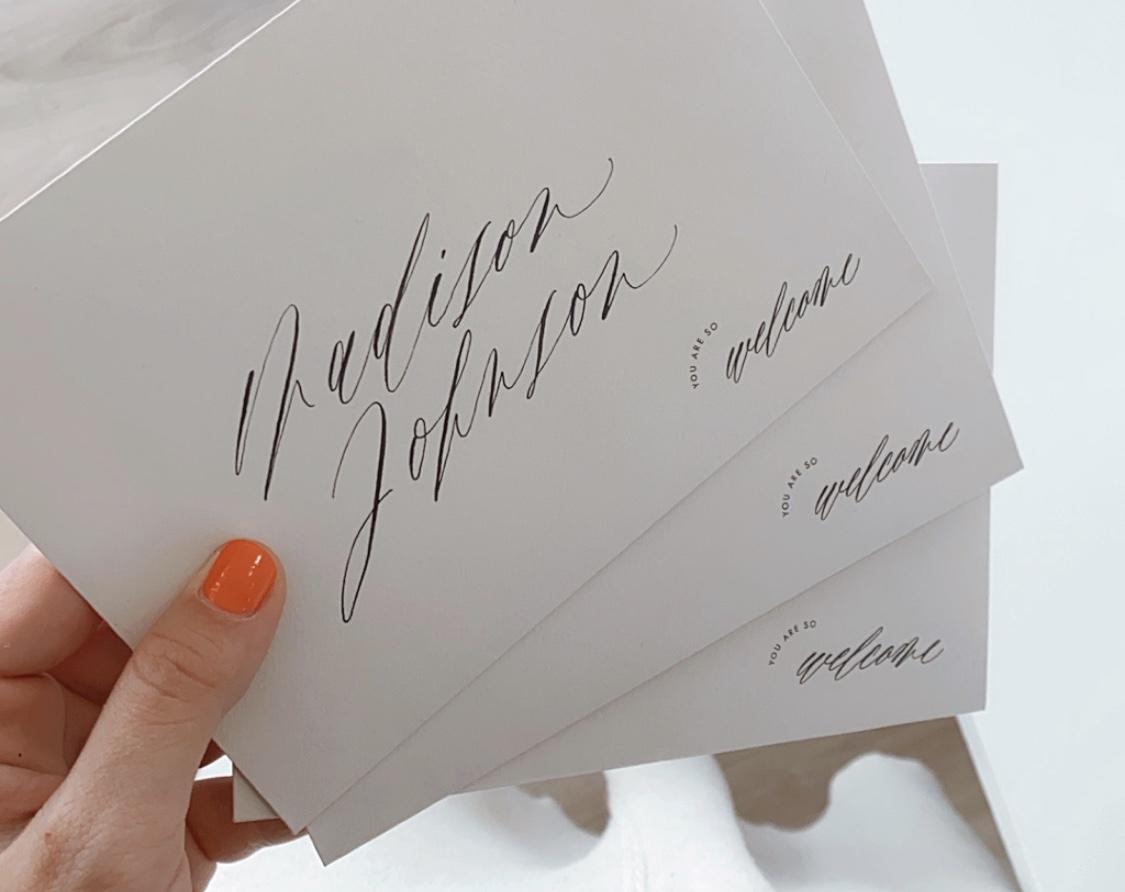 Kombination Kalligrafie und Digitaldruck