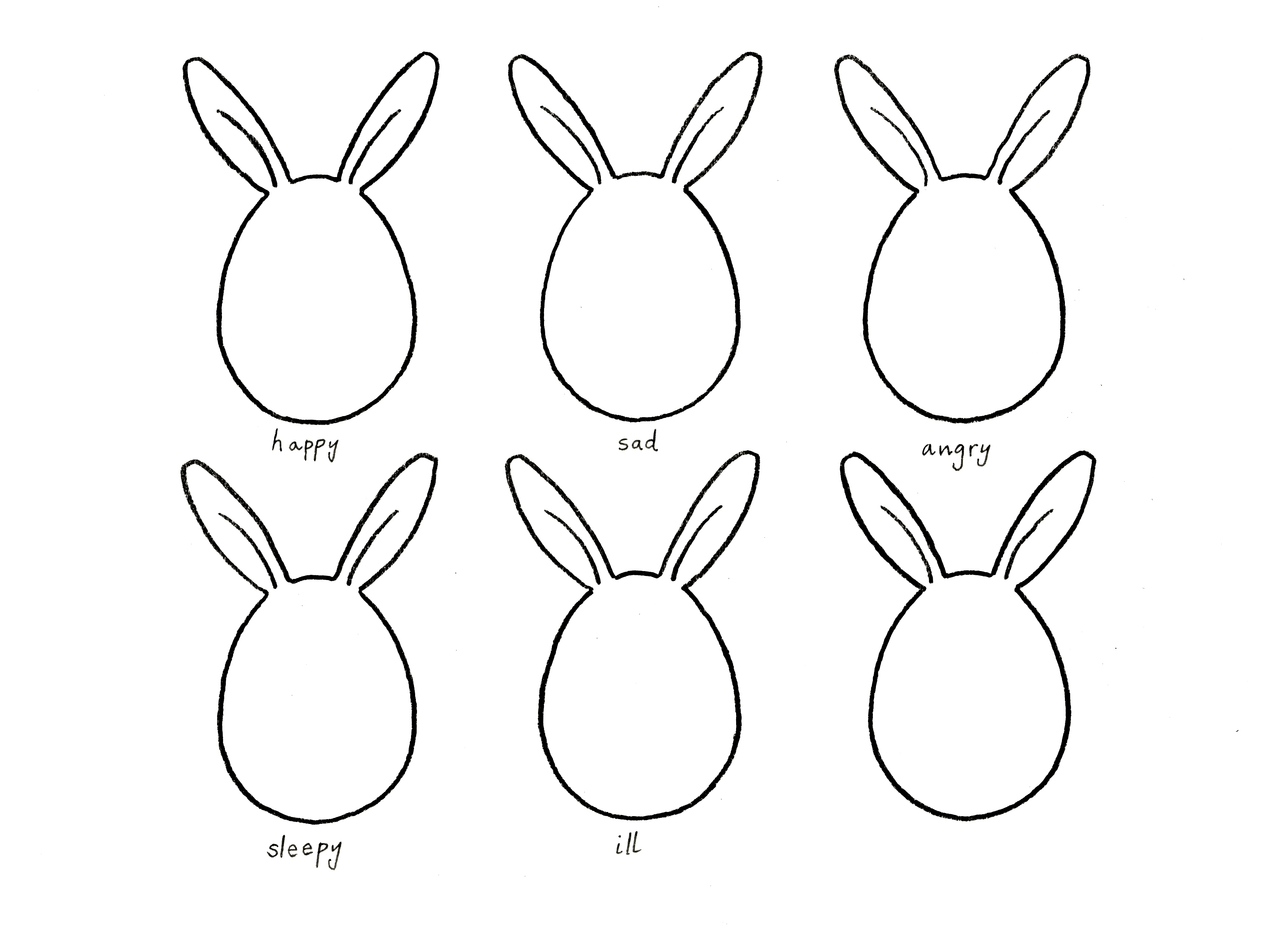 Martha S Bunny Faces Drawing Game