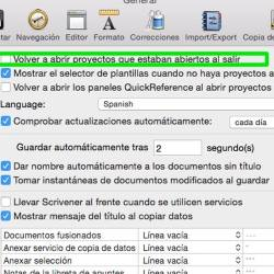 scrivener no abrir documento
