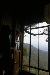 View from the treehouse at Earth Lodge, in El Hato outside of Antigua, Guatemala