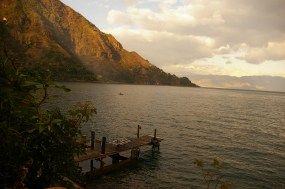 the view from Maya Moon Lodge, in Tzununá, Lago Atitlan, Guatemala | by Clare McInerney