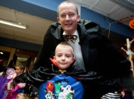 Count Dracula aka John Galvin,The Clare Champion MD, and his young apprentice Daniel Taylor from Ennis National School Senior Infants