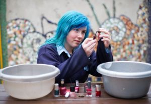Orlaith Bowen, a pupil of Mary Immaculate Secondary School in Lisdoonvarna, whose project looks at the predator effect on the behaviour of Mythlus Edulis and Littorina Littoria. Photograph by John Kelly.