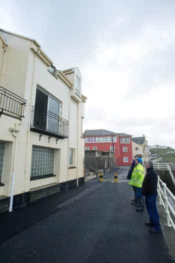 Homes and businesses were damaged in Lahinch after last night's storm. Photograph by John Kelly.