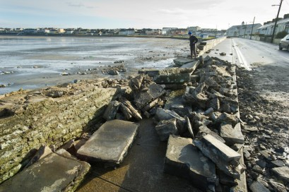 A view of the destruction caused following the latest high seas and gales at Kilkee. Photograph by John Kelly.