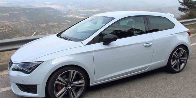 The SEAT Leon Cupra in the hills near Montserrat.