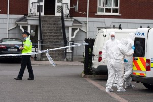 220713 The Scene at Sarsfield Mews Ennis Co Clare where a 31 year old man died in the early hours of Tuesday morning.Pic Arthur Ellis.