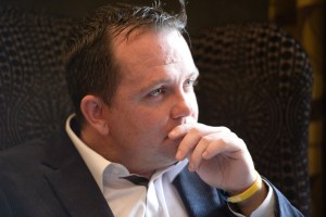 Davy Fitzgerald taking in the question. Photograph by John Kelly