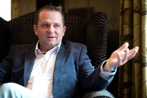 A relaxed Davy Fitzgerald, Photograph by John Kelly.