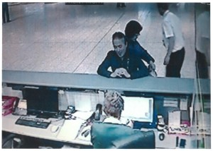 A CCTV image of the Japanese couple  released by the gardaí.