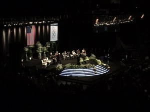The Yum Center in Downtown Louisville, Kentucky, USA, the venue for the memorial service for the late Muhammad Ali.