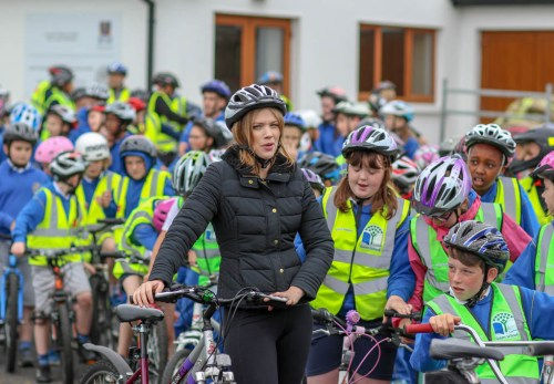 CBS teacher Aisling Kelly at the School Cycle at Ennis Fire Station on Wednesday