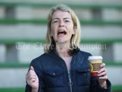 A fan reacts during the Carrigaholt/Moveen V Carron/New Quay,Ballyvaughan/Fanore Primary Schools Div 3 Football 11-Aside final at Kilrush. Photograph by John Kelly