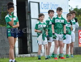 Kilrush subs keep an eye on all the action during their Primary Schools Div 2 Football 13-Aside final against Doonbeg at Kilrush. Photograph by John Kelly
