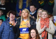 Inagh/Cloonanaha fans feel the tension during their Schools Division 1 final at Cusack Park. Photograph by John Kelly