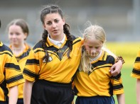 Disappointed Clonlara players after their loss to Inagh/Cloonanaha in their Schools Division 1 final at Cusack Park. Photograph by John Kelly