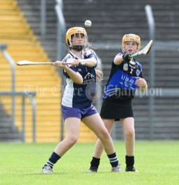Rachel Guerin of Bridgetown in action against Emma Geary of Kilkee/Kilbaha during their Munster Championship game at Walsh Park. Photograph by John Kelly