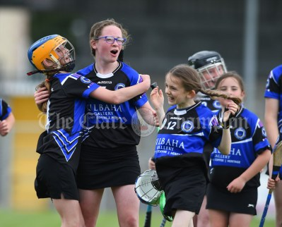 Kilkee/Kilbaha players celebrate their win over Bridgetown during their Munster Championship game at Walsh Park. Photograph by John Kelly