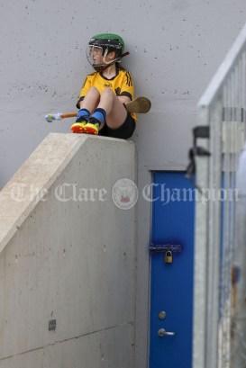 120619 Clonmoney camogies sub Aine Dennis awaits her chance.Pic Arthur Ellis