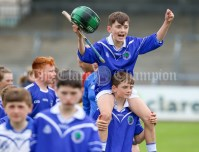 120619 Cratloes Ultan Donnelly celebrates on the shoulders of Cathal O'Doherty after winning Division 1.Pic Arthur Ellis