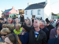 Local man Noel Bermingham awaiting the arrival of Eric and Don Junior Trump in Doonbeg Village during their father's visit to the area. Photograph by John Kelly