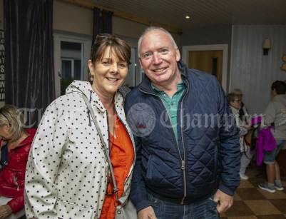 230819 Marie and Pat Hansbury, Ennis, in The Inis Oir Hotel during the RNLI fund raising cruise to the Cliffs of Moher and Inis Oir with Doolin2Aran Ferries Star of Doolin on Friday evening.Pic Arthur Ellis.