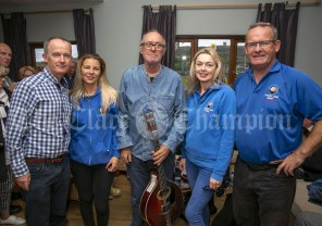 230819 L-R Clare Champion MD, John Galvin, Kristina Manolache, Sean Tyrrell, Cathy Normoyle and Joe Garrihy, Doolin2Aran Ferries, in The Inis Oir Hotel during the RNLI fund raising cruise to the Cliffs of Moher and Inis Oir with Doolin2Aran Ferries Star of Doolin on Friday evening.Pic Arthur Ellis.