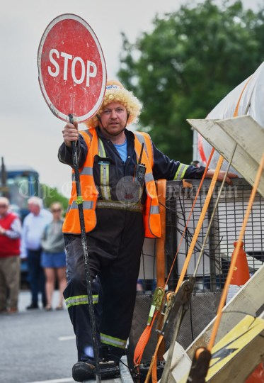 Pat King playing lollipop for the Glenmore Windfarm Group during the Cultural Parade as part of the annual Festival Of Fun in Kilmihil. Photograph by John Kelly